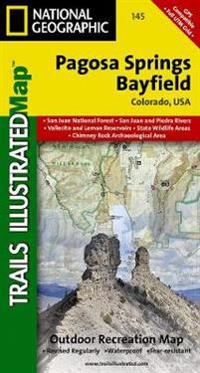 National Geographic Trails Illustrated Map Pagosa Springs / Bayfield