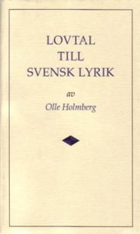 Lovtal till svensk lyrik