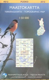 Maastokartta R5121 Puokio peruskartta 1:25 000