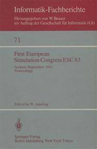 First European Simulation Congress ESC 83