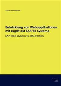 Entwicklung Von Webapplikationen Mit Zugriff Auf SAP/R3 Systeme