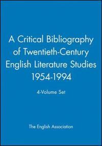 A Critical Bibliography of Twentieth-Century Literature Studies
