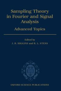 Sampling Theory in Fourier and Signal Analysis: Advanced Topics