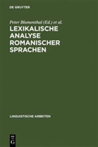 Lexikalische Analyse Romanischer Sprachen