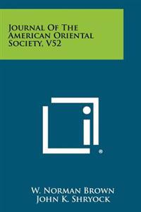 Journal of the American Oriental Society, V52