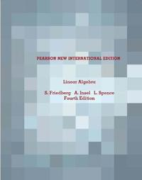 Linear Algebra: Pearson New International Edition