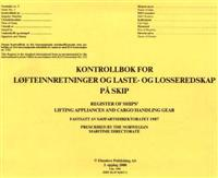 Kontrollbok for løfteinnretninger og laste- og losseredskap på skip = Register of ships' lifting appliances and cargo handling gear