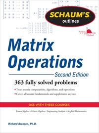 Schaum's Outlines Matrix Operations