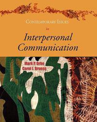 Contemporary Issues in Interpersonal Communication