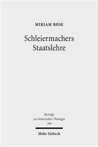 Schleiermachers Staatslehre