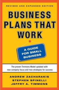 Business Plans That Work: A Guide for Small Business