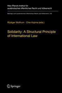 Solidarity: A Structural Principle of International Law