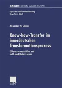 Know-How-Transfer Im Innerdeutschen Transformationsprozess