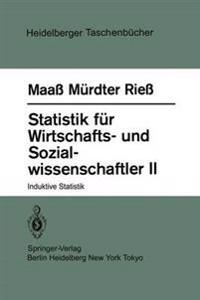 Statistik Feur Wirtschafts- Und Sozial-wissenschaftler 2