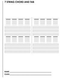 7 String Chord and Tab: A Student Manuscript Notebook from Fusello Publishing