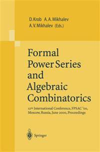 Formal Power Series and Algebraic Combinatorics
