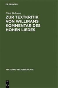 Zur Textkritik Von Willirams Kommentar Des Hohen Liedes
