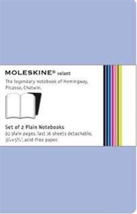 Moleskine Volant Notebook Plain Blue Pocket