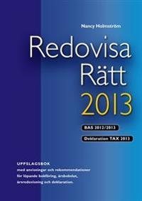 Redovisa Rätt 2013