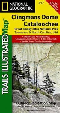 National Geographic Trails Illustrated Map Clingmans Dome / Cataloochee, Great Smoky Mtns National Park Tennessee North Carolina
