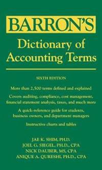 "Barron""s Dictionary of Accounting Terms, 6th Edition"