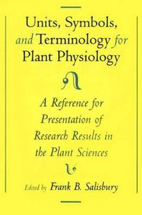 Unit, Symbols, and Terminology for Plant Physiology
