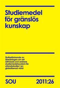 Studiemedel för gränslös kunskap. SOU 2011:26
