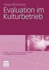 Evaluation Im Kulturbetrieb
