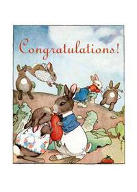 Bunnies Kissing in Garden Engagement Cards [With Envelope]