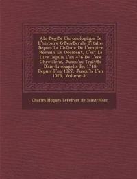 Abr Eg E Chronologique de L'Histoire G En Erale D'Italie