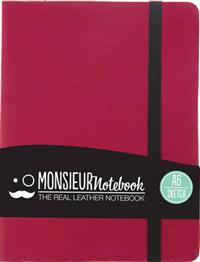 Monsieur Notebook - Real Leather A6 Pink Sketch