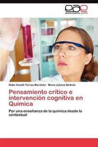 Pensamiento Critico E Intervencion Cognitiva En Quimica