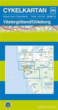 Cykelkartan Blad 12 Västergötland/Göteborg : 1:90000