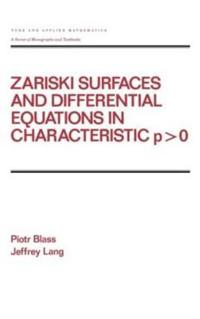 Zariski Surfaces and Differential Equations in Characteristic P-O