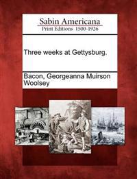 Three Weeks at Gettysburg.