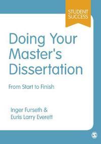 Doing Your Master's Dissertation