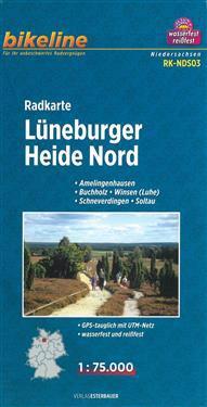 Bikeline Radkarte Lüneburger Heide Nord 1 : 75.000