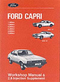 Ford Capri Workshop Manual And 2.8 Injection Supplement