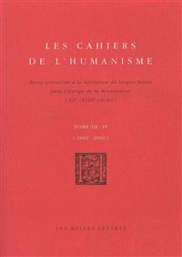 Les Cahiers de L'Humanisme: T.3-4 - 2002-2003