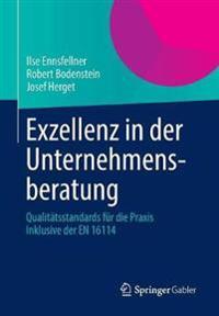 Exzellenz in Der Unternehmensberatung: Qualitatsstandards Fur Die Praxis Inklusive Der En 16114