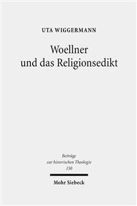 Woellner Und Das Religionsedikt