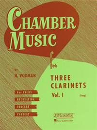 Chamber Music for Three Clarinets, Vol. 1 (Easy)