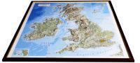 British Isles Raised Relief Map