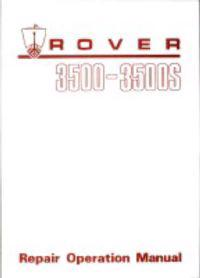 Rover 3500/3500s Workshop Manual