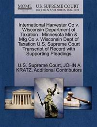 International Harvester Co V. Wisconsin Department of Taxation