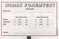 Skåringshefter til Norsk fonemtest. Heidi Tingleff. Pakke à 10 eks