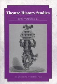 Theatre History Studies 2007