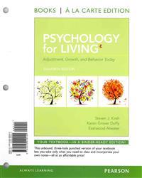 Psychology for Living: Adjustment, Growth, and Behavior Today, Books a la Carte Edition