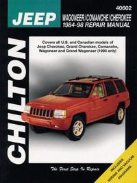 Chilton Repair Manual Jeep Wagoneer Commanche Cherokee 1984-2001