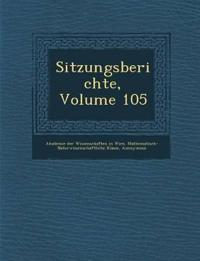 Sitzungsberichte, Volume 105